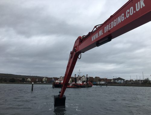 Long Reach Excavator dredging